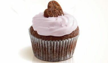 Cupcake de chocolate e aveia